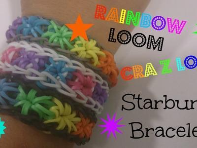Rainbow Loom, Cra Z Loom: Starburst Bracelet Tutorial