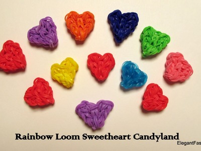 Rainbow Loom Heart Charms - Heart Shaped Candy : How to