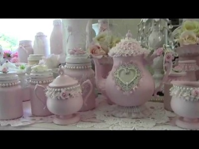 Shabby Chic Tea Pot Makeover
