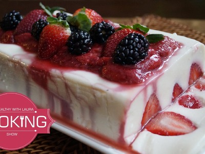 Yogurt Jello with Strawberry Jelly - 4th of July ideas
