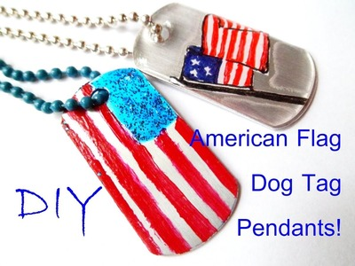 American Flag Dog Tag Pendants tutorials | eclecticdesigns