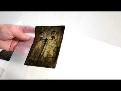 Dan Burkholder Discusses Gold Leaf Printing on Vellum