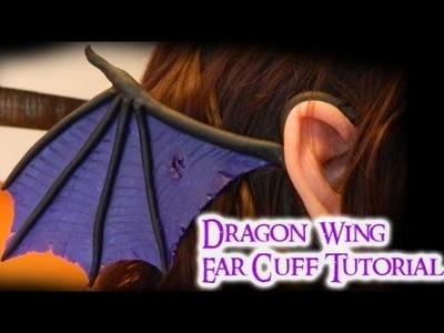 Dragon Wing Ear Cuff (2 different styles) Polymer Clay Tutorial. Arcilla Polimérica