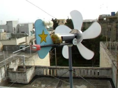 Free Energy From My Mini Wind Turbine By Day ,,, Watch Clip By Night