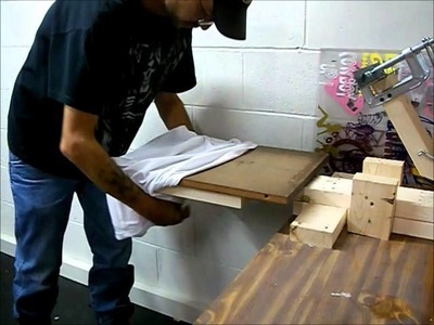 How to build a homemade screen printing press
