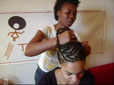 How to Cornrow: Hair type 3B Natural