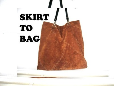 How to make a leather tote bag from a skirt. DIY Bag Vol 6