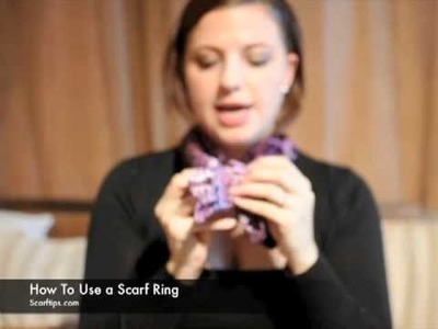 How To Use A Chaine D'Ancre Scarf Ring & Silk Scarf Tutorial - www.ScarfTips.com