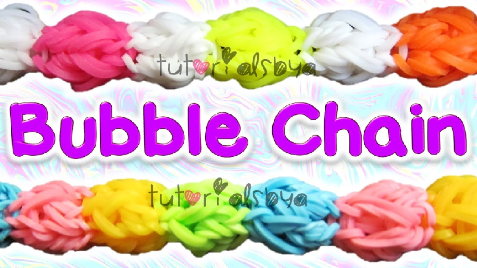 NEW 3D Bubble Chain Rainbow Loom Bracelet Tutorial | How To
