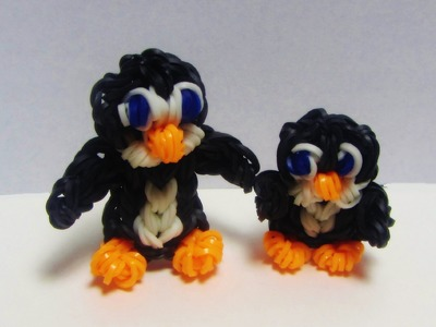 Rainbow Loom PENGUIN BABY - How to make Loom Bands