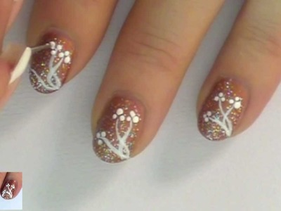 Simple NailArt Design Tutorial for short nails -Copper Cabana- for beginners