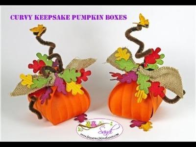 Stampin Up Curvy Keepsake Pumpkin Boxes