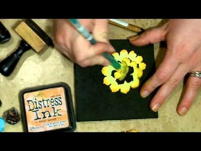 Tim Holtz Pinecone Die  - 4 flowers Tutorial