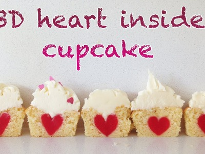 3D Heart Inside Cupcake HOW TO COOK THAT Ann Reardon