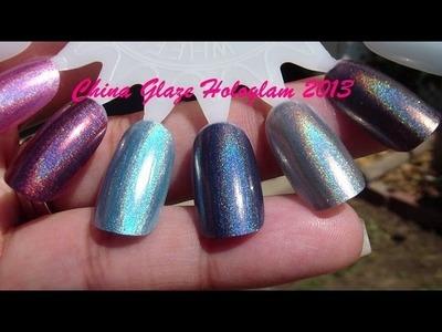 China Glaze Hologlam 2013 Haul! (6 of the shades)