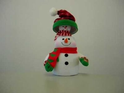 Christmas Snowman with Baby in Hat