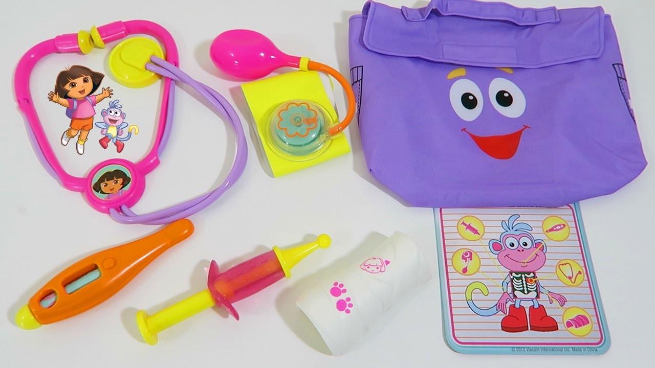Dora the Explorer Play Doctor Check Up Kit Playset Nickelodeon Nick Jr Dora Toy!