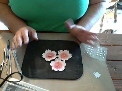 Flower Friday- The updated Cherry Blossom Tutorial and More FUN!