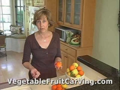 Fruit Carving Made Easy - Citrus Peel Roses - Nita's Vegetable & Fruit Carving