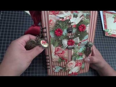 Graphic 45: 12 Days of Christmas Door Album - Walk through!