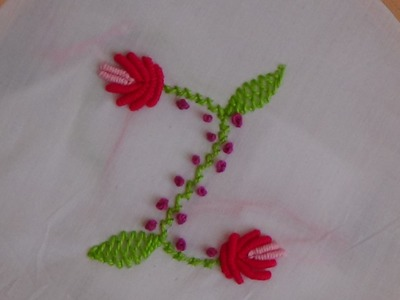 Hand Embroidery: Flower Buds (Bullion Knot Stitch)