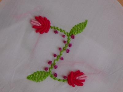 Hand Embroidery: Flower Buds (Bullion Knot Stitch)