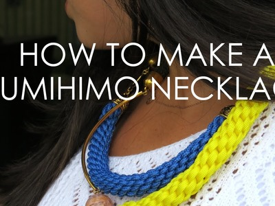 How Elle Woods would make a Kumihimo Necklace