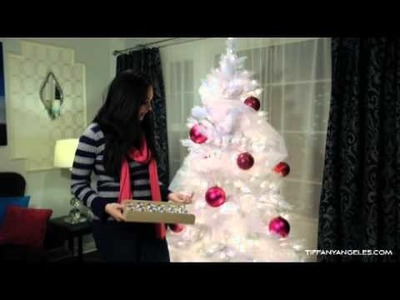 How to Decorate a Christmas Tree - Contemporary Glam Style