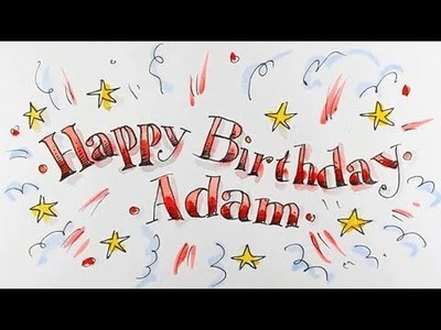 How to draw Happy Birthday in fancy lettering  - Spoken Tutorial