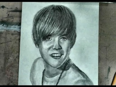 How to Draw Justin Bieber Step by Step Pencil Portrait Drawing