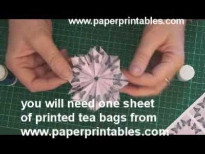 How to fold a tea bag (method 2) tutorial
