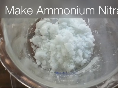 How to get Ammonium nitrate AN - NH4NO3 out of Fertilizer