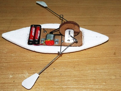 How to make a Toy Rowing Boat