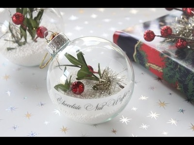 How to Make Christmas Ornament Place Cards.Name Tags