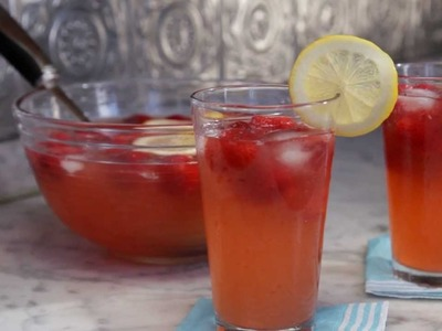 How to Make Lemon-Strawberry Punch