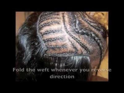 ☏ How To: Meagan Good.Aaliyah Swoop Bang Sew In Tutorial (using Arjuni Straight hair)