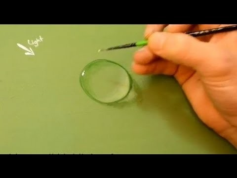 How to paint a water drop in Acrylics.