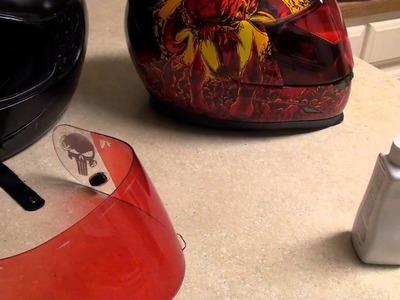 How to tint helmet visor