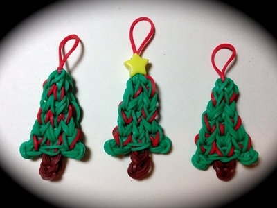Made by Mommy's Christmas Tree Charm on the Rainbow Loom