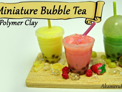 Miniature Bubble Tea Tutorial - Polymer Clay