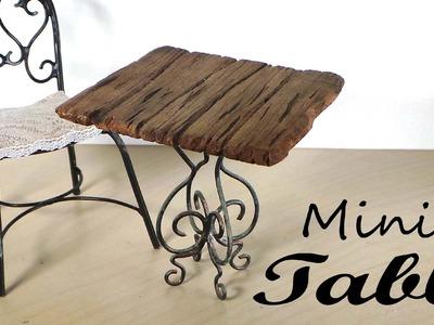 Miniature Furniture; Small Table Tutorial