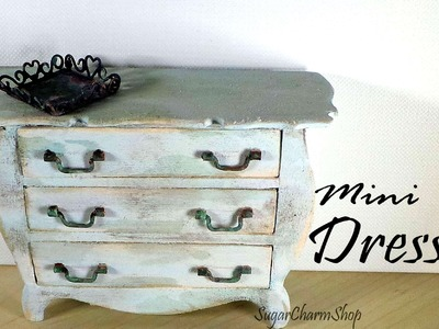 Miniature Furniture; Vintage Dresser Tutorial - Dolls.Dollhouse