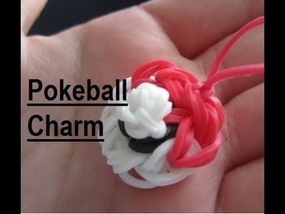 Pokeball Charm Rainbow Loom - EASY!!!!