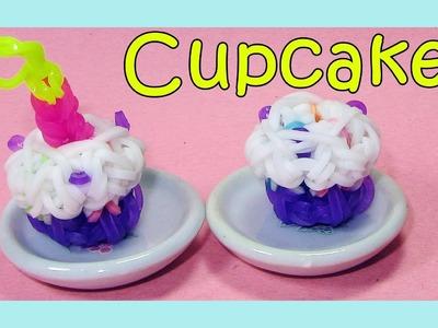 Rainbow Loom Charms 3D Loom Bands Cupcake - How to Make Tutorial