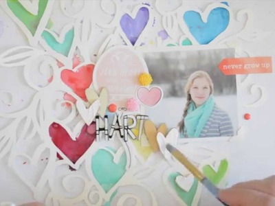 Scrapbooking Tutorial: HART scrapbook page process video