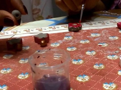Terracotta jewellery making - clay jewellery