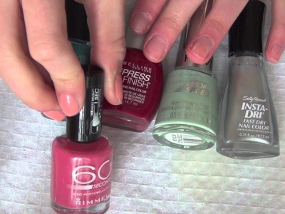 The Best: Fast drying nail polish, Ways to dry your nails and Nail polish removers