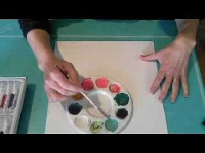 Watercolor layout Part 1 with Janine Koczwara on Live with Prima