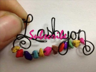 Wire Writing Name Pendants