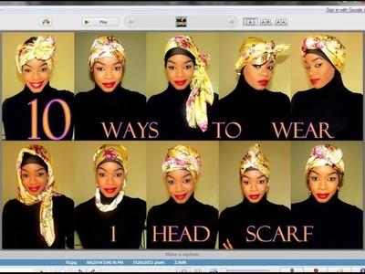 10 ways to wear 1 Head Scarf | Tutorial #30